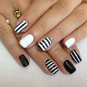 Black & white acrylic nails | Nail art | Pinterest ...