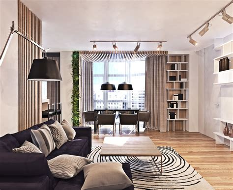 Contemporary Style : A Contemporary Apartment With Lots Of Open Space