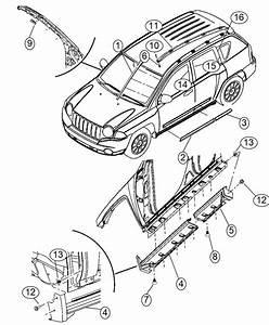 2015 Jeep Compass Screw  Pan Head  Mounting  Railsroof