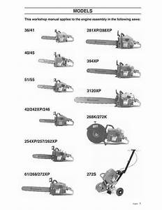 Husqvarna Chainsaw Repair Manual 36 40 41 42 45 51 55