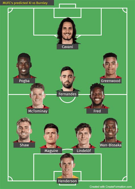 Man United predicted line-up vs Burnley: Pogba to play as ...