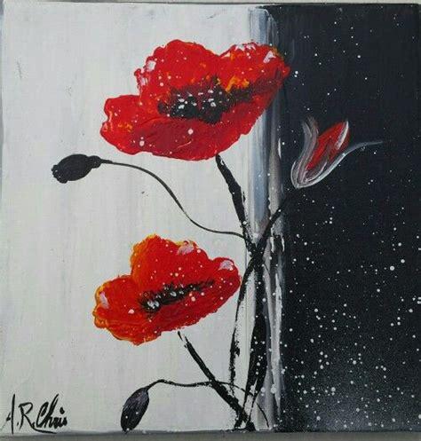 peinture bouquet de fleurs moderne peinture acrylique sur toile 20x20 tableau toile