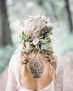 Couronne De Fleurs Mariée : 1001 id es pour la coiffure mariage boh me parfait ~ Farleysfitness.com Idées de Décoration