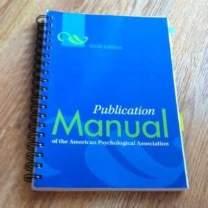 A Must Apa Manual Spiral Bound 6th Edition Grad 10 Best Apa 6th Edition Images On