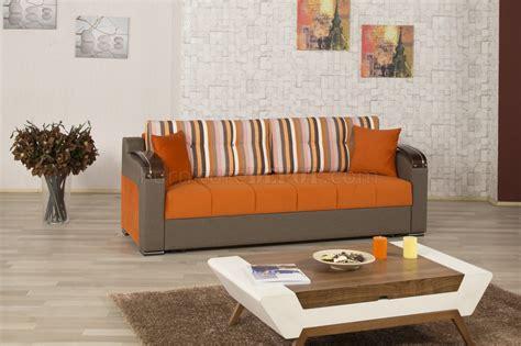 divan deluxe signature sofa bed  orange fabric  casamode