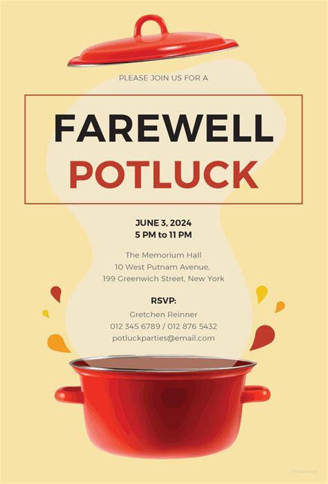 farewell party invitation template   psd format