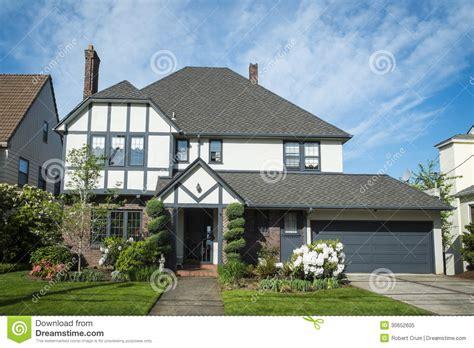 classic american suburban house stock image image