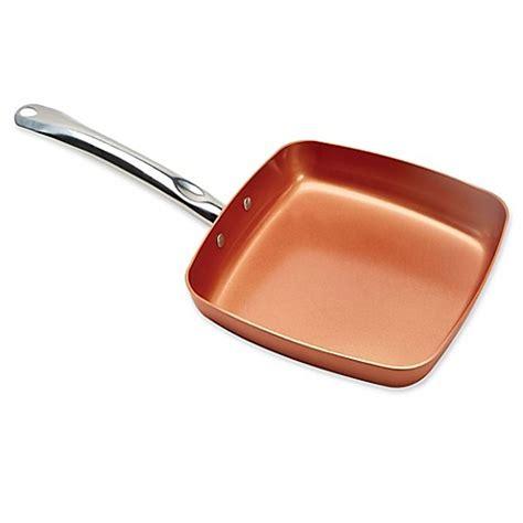 copper chef   square nonstick fry pan ceramic aluminum    tv ebay