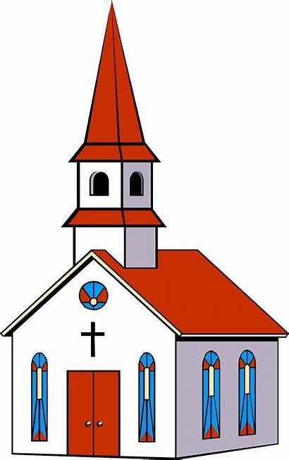 Church Clipart Clip Steeple Building