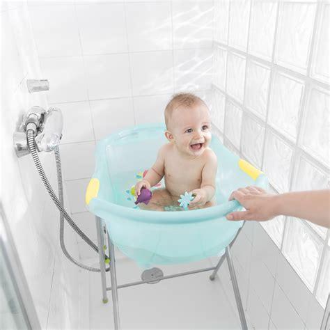 tuyau vidange baignoire bebe universel baignoire b 233 b 233 ergo ludique bleue montagne 10 sur allob 233 b 233
