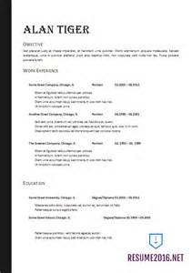 best resume format 2017 doc resume format 2017 20 free word templates