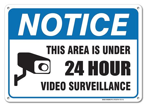24 Hour Video Surveillance Sign By Sigosigns Avoid