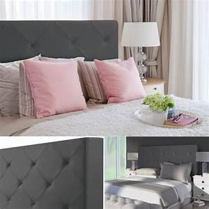 Tete De Lit Maison : t te de lit capitonn e pvc gris 160x58 cm accessoires ~ Zukunftsfamilie.com Idées de Décoration