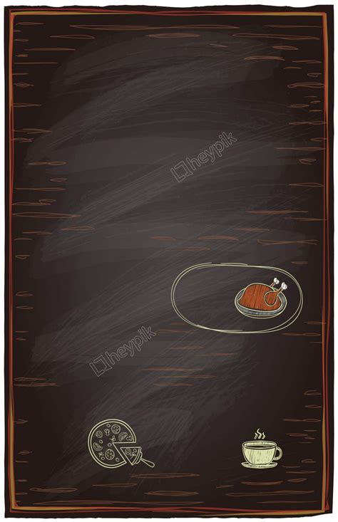 hand painted pizza menu background template menus posters