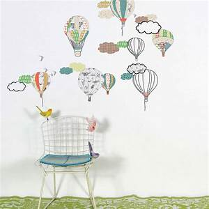 hot air balloon wall stickers by little yellow birds With beautiful hot air balloon wall decals