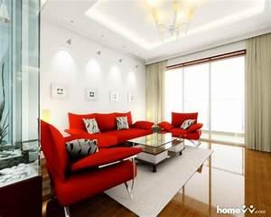 Wohnzimmer Mit Brauner Couch : 60 salas com sof vermelho incr veis modelos como combinar ~ Markanthonyermac.com Haus und Dekorationen