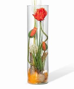 Deko Vasen Mit Blumen : deko vase mohn 50cm jetzt bestellen bei valentins valentins blumenversand blumen und ~ Markanthonyermac.com Haus und Dekorationen
