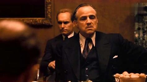 教父:男人的圣经,谈判桌上老教父一个眼神就知道了幕后敌人 ...