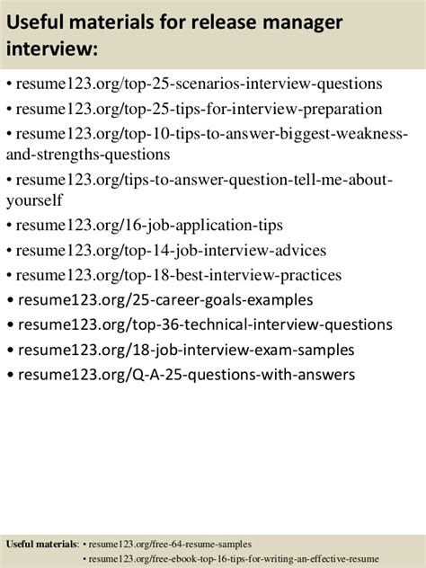 top 8 release manager resume sles