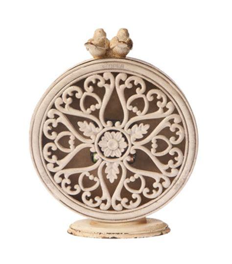 shabby chic table clock beautiful boudoir table clock cream shabby chic