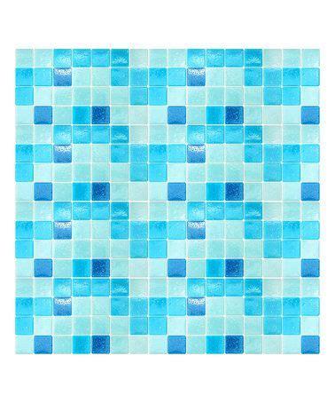 love  light blue mosaic peel stick tiles  zulily