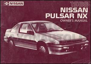 1988 Nissan Pulsar Nx Repair Shop Manual Original