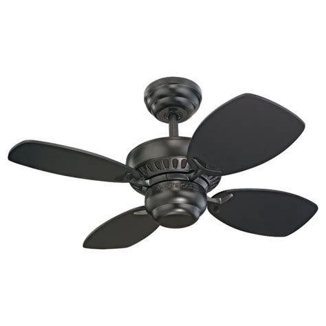 monte carlo colony ceiling fan light kit monte carlo 4co28bk black four blade 28 quot mini indoor