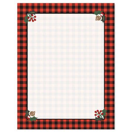 buffalo plaid christmas letter papers current catalog