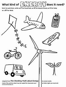 Science Worksheets For 3rd Grade Energy