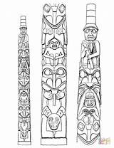 Totem Coloring Poles Pole Native Pages American Printable Tattoo Haida Horse Dala Tiki Swedish Supercoloring Drawing Templates Meanings Symbols Worksheets sketch template
