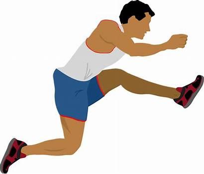 Athlete Movimiento Jump Con Run Motion Gratis