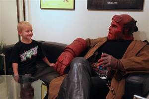Ron Perlman Puts on the Hellboy Make-Up Again - SuperHeroHype