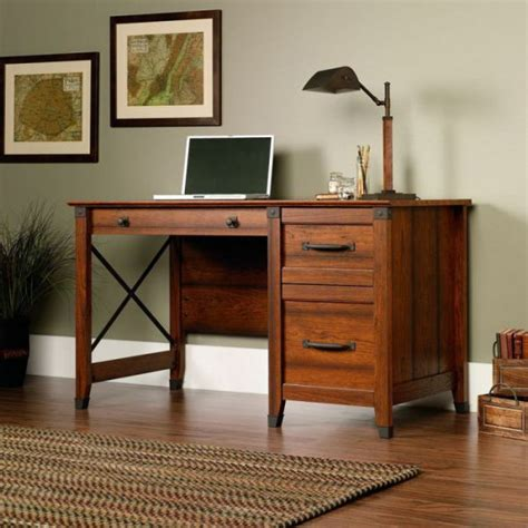 sauder carson forge desk washington cherry finish highly charming mission style computer desk for you