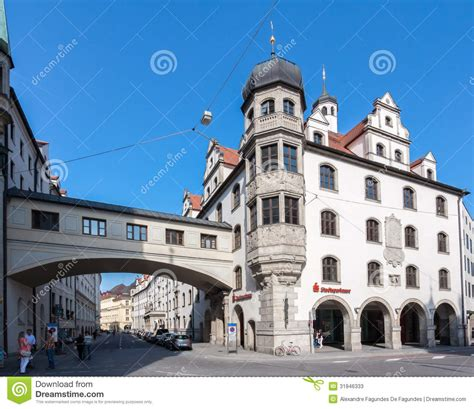 marienplatz munich germany editorial stock photo image