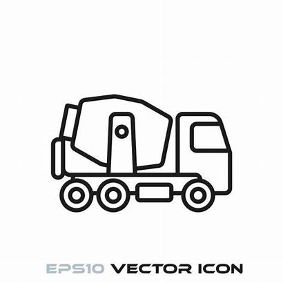 Mixer Concrete Vector Cement Truck Clip Illustrations
