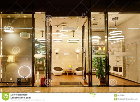 Luxury Led Lighting Shop Window Stock Photo  Image Of