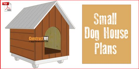 small dog house plans step  step construct