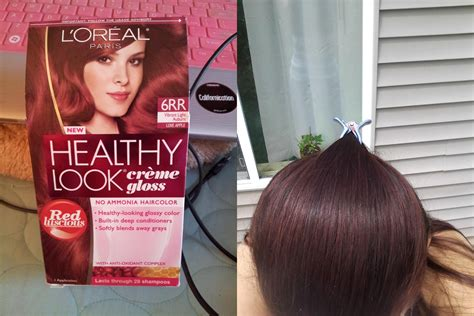 Dyed My Hair Using L'oreal Healthy Look Creme Gloss In 6rr