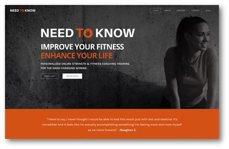 personal trainer web design trends