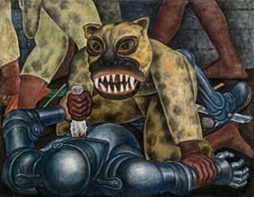 guerrero indio diego rivera murales para el museo de