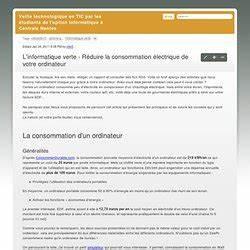 Reduire Consommation Electrique : etude pearltrees ~ Premium-room.com Idées de Décoration