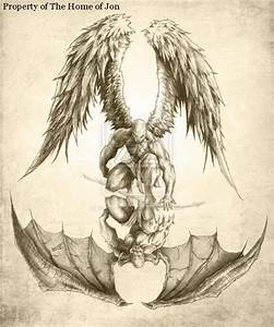 Angels and Demons Tattoo Designs | half sleeve tattoo ...