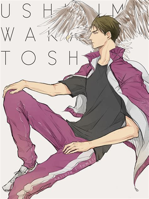 ushijima wakatoshi haikyuu zerochan anime image board