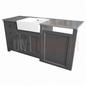 meuble evier avec timbre d39office et emplacement lave With meuble pour lave vaisselle