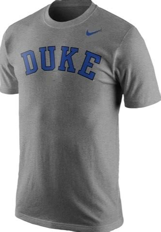 duke blue devils college wordmark logo du grey nike t shirt