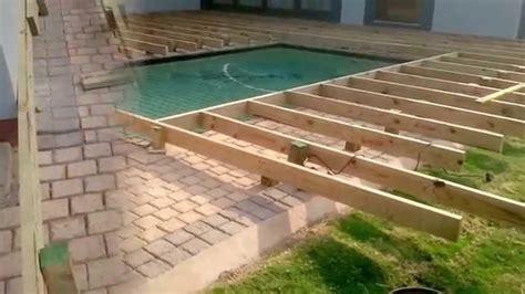wood pool decks inground pool deck which to choose backyard design ideas