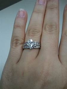 lets see your marquise rings weddingbee With wedding band to fit marquise engagement ring
