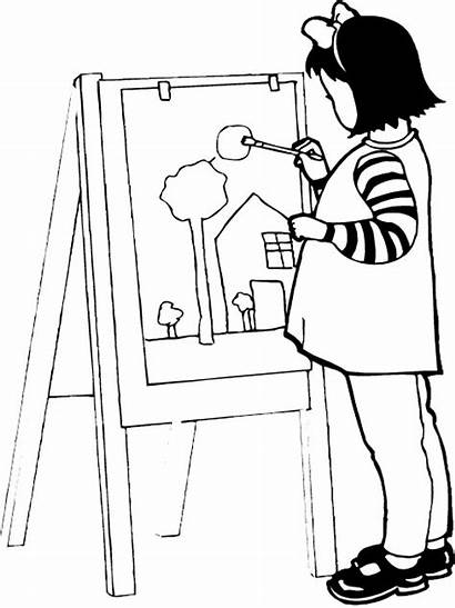 Coloring Pages Painting Paint Kid Artist Printable