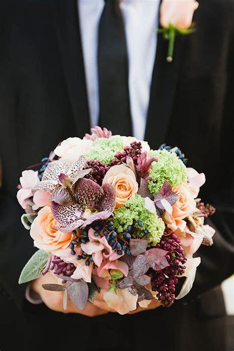 steal worthy fall wedding bouquets deer pearl flowers