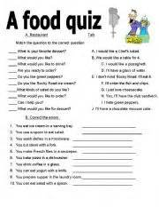 healthy healthy quiz printable